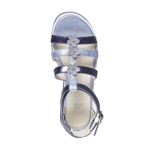 Sandali metallizzati da bambina mini-b, viola, 361-9203 - 19
