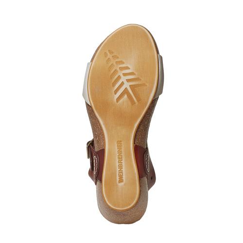 Sandali da donna in pelle weinbrenner, marrone, 564-4455 - 26