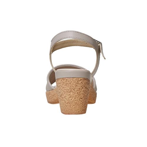 Sandali da donna con tacco naturale bata-touch-me, grigio, 664-2231 - 17