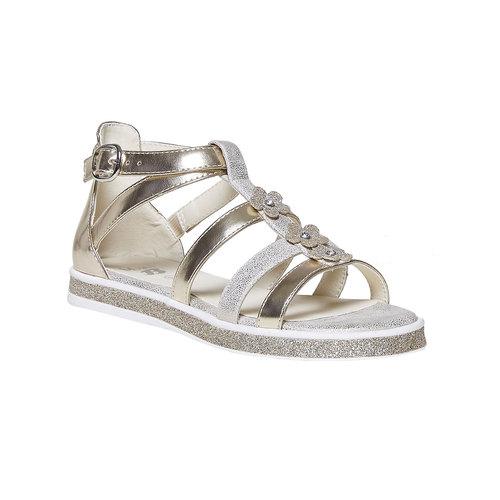 Sandali dorati da ragazza mini-b, marrone, 361-3203 - 13