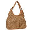 Borsetta marrone con tessuto a maglia bata, marrone, 969-4337 - 13