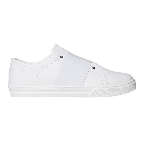 Sneakers bianche con borchie a punta north-star, bianco, 831-1137 - 15