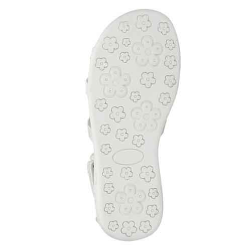 Sandali da ragazza con applicazioni floreali mini-b, bianco, 261-1178 - 26