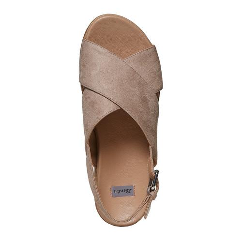 Sandali da donna con suola appariscente bata, 569-2436 - 19
