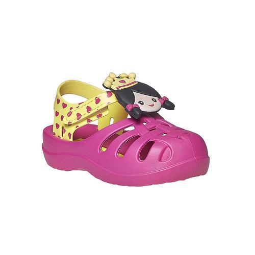 Sandali da ragazza con principessa ipanema, rosa, 172-5117 - 13