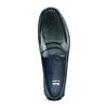 Mocassini in pelle bata, blu, 854-9178 - 17