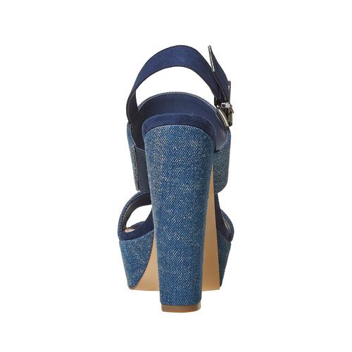 Sandali blu con tacco alto bata, blu, 769-9541 - 17