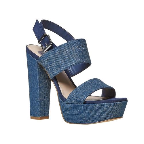 Sandali blu con tacco alto bata, blu, 769-9541 - 13