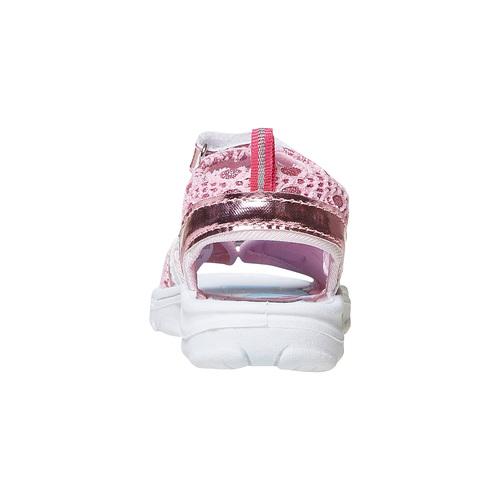 Sandali metallizzati da bambina con stampa, rosa, 261-5197 - 17
