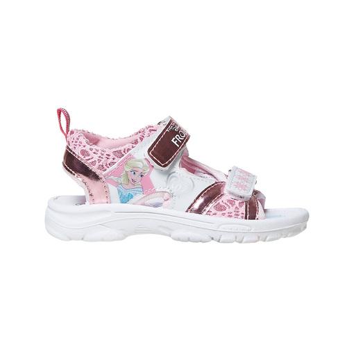 Sandali metallizzati da bambina con stampa, rosa, 261-5197 - 15