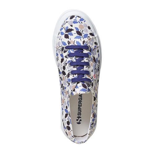 Sneakers casual da donna con motivo superga, viola, 589-9987 - 19