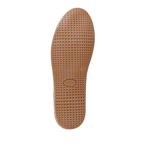 Sneakers in pelle con suola naturale bata, blu, 853-9317 - 26