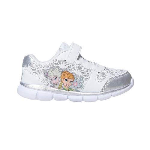 Sneakers da bambina con pizzo e stampa, bianco, 229-1188 - 15