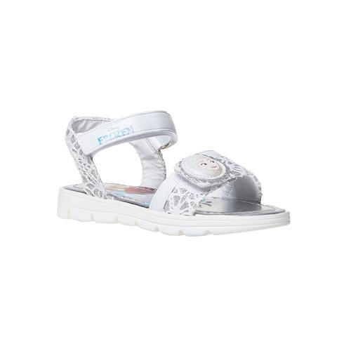 Sandali argentati da bambina, bianco, 261-1196 - 13