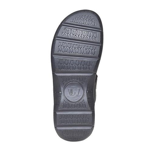 Sandali in pelle da uomo weinbrenner, nero, 866-6269 - 26