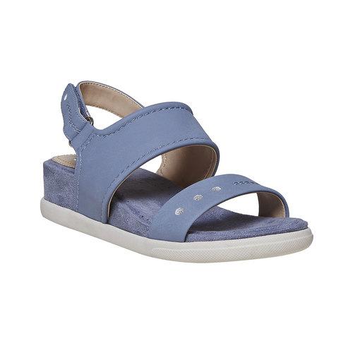 Sandali blu con suola appariscente bata, blu, 561-9303 - 13