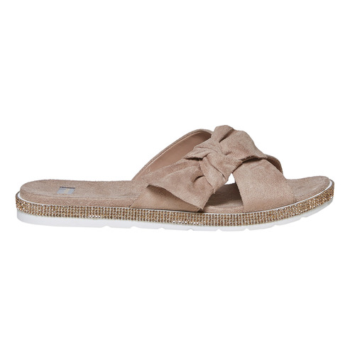Slip-on marroni da donna bata, grigio, 569-2413 - 15
