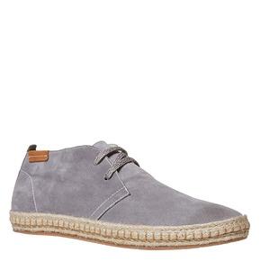 Scarpe stringate casual di pelle bata, grigio, 853-2321 - 13