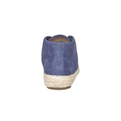 Scarpe blu da uomo con iuta, viola, 859-9249 - 17