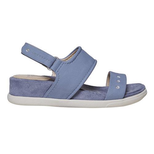 Sandali blu con suola appariscente bata, blu, 561-9303 - 15