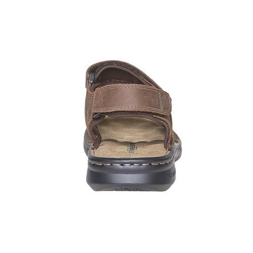 Sandali marroni in pelle weinbrenner, marrone, 866-4269 - 17