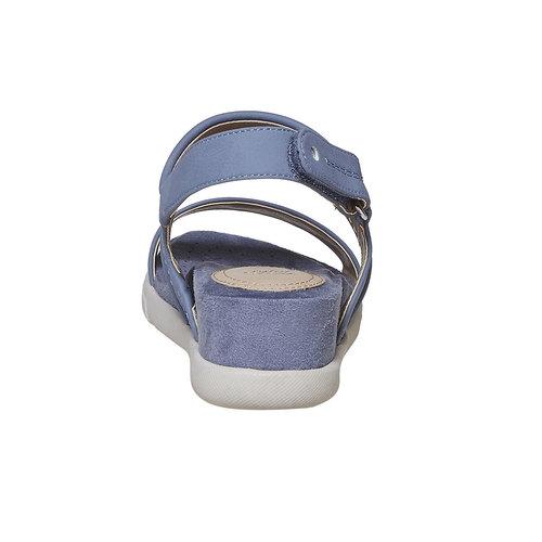 Sandali blu con suola appariscente bata, blu, 561-9303 - 17