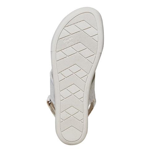 Sandali da donna con suola appariscente bata, beige, 569-8303 - 26