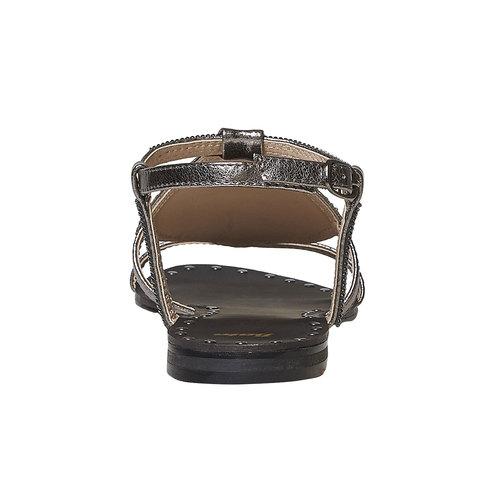 Sandali da donna con strass bata, bianco, 561-1498 - 17