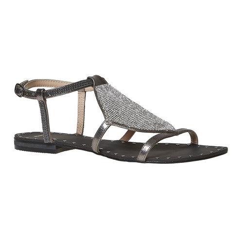 Sandali da donna con strass bata, bianco, 561-1498 - 13