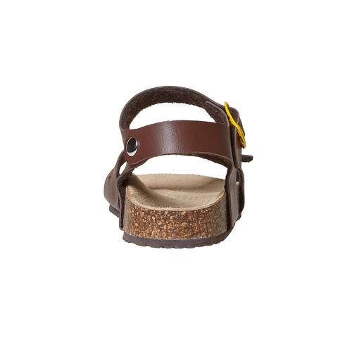 Sandali da bambino con dettagli gialli mini-b, marrone, 361-4233 - 17