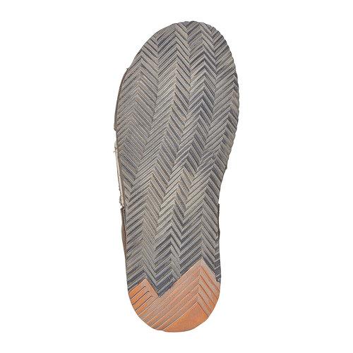 Slip-on in pelle da uomo weinbrenner, marrone, 866-4277 - 26
