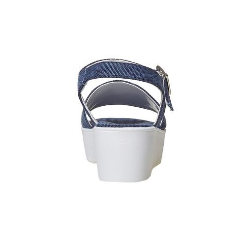 Sandali blu con flatform appariscente, viola, 669-9110 - 17