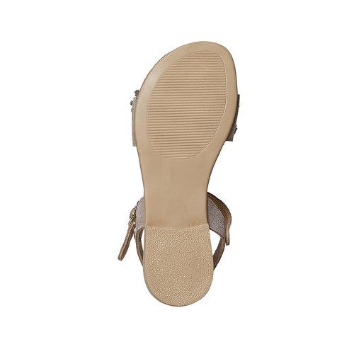 Sandali in pelle da bambina mini-b, beige, 363-3224 - 26