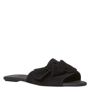 Slip-on in pelle nera bata, nero, 563-6411 - 13