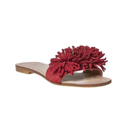 Slip-on rosse in pelle con frange bata, rosso, 573-5354 - 13