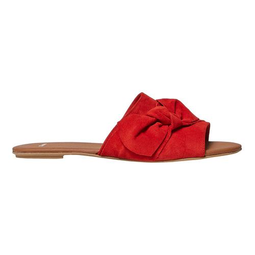 Slip-on in pelle da donna bata, rosso, 563-5411 - 15