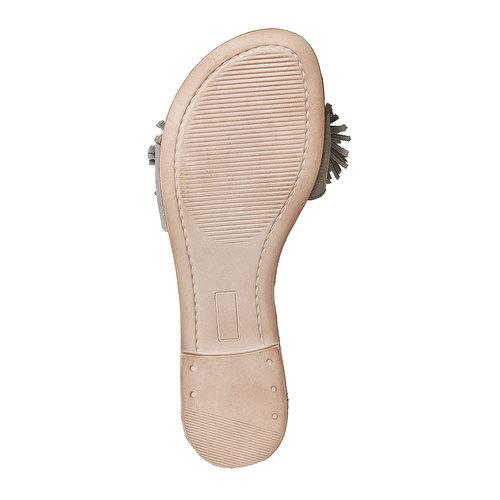 Slip-on in pelle con frange bata, beige, 573-3354 - 26