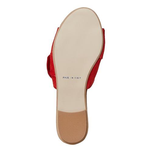 Slip-on in pelle da donna bata, rosso, 563-5411 - 26
