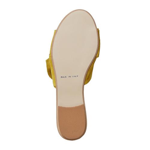 Slip-on in pelle da donna bata, giallo, 563-8411 - 26
