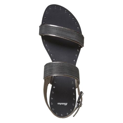 Sandali da donna con applicazioni decorative bata, nero, 561-6501 - 19
