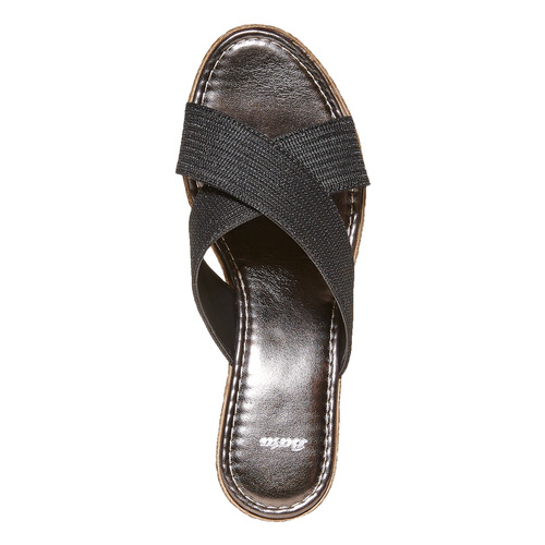 Slip-on da donna con plateau bata, nero, 779-6105 - 19
