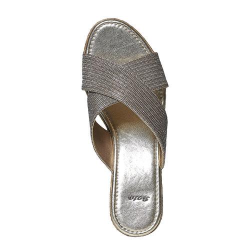 Slip-on con fasce incrociate bata, giallo, 779-8105 - 19