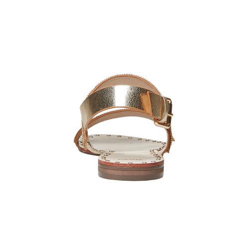 Sandali dorati da donna bata, marrone, 561-3501 - 16