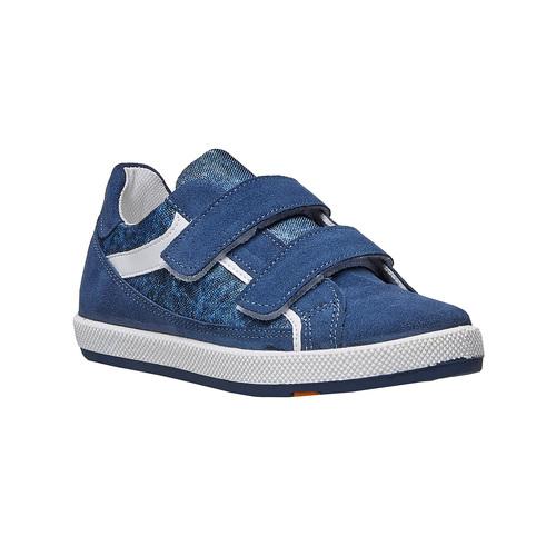 Sneakers da bambino con chiusure a velcro flexible, blu, 311-9244 - 13