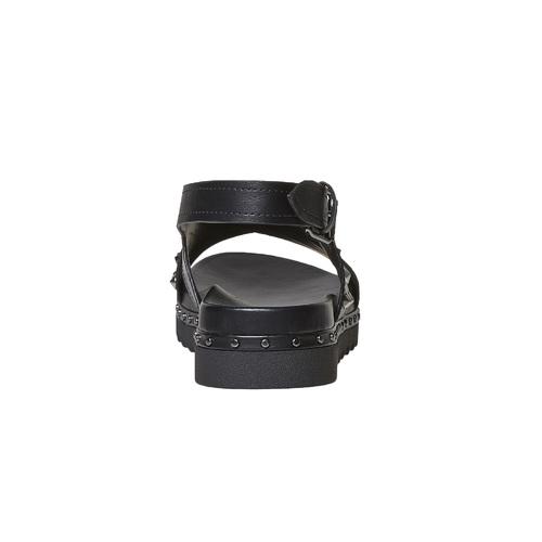 Sandali con borchie bata, nero, 561-6502 - 16