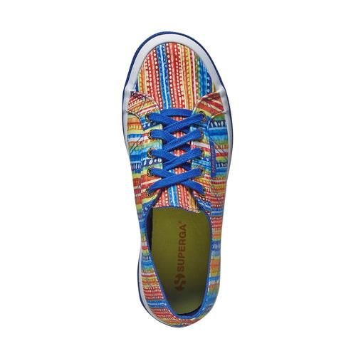 Sneakers con motivo colorato superga, blu, 589-9191 - 19