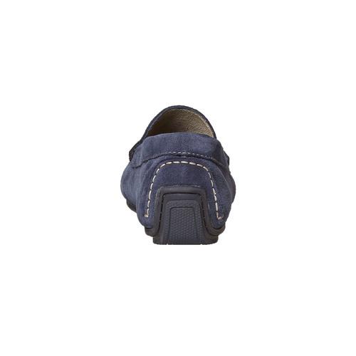 Mocassini in pelle blu bata, blu, 853-9104 - 17