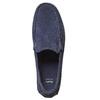 Mocassini in pelle blu bata, blu, 853-9104 - 26