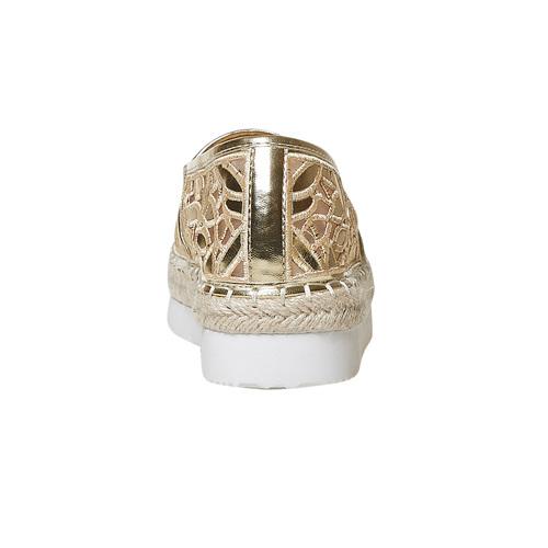 Slip-on dorate da donna con traforature bata, oro, 569-8504 - 17