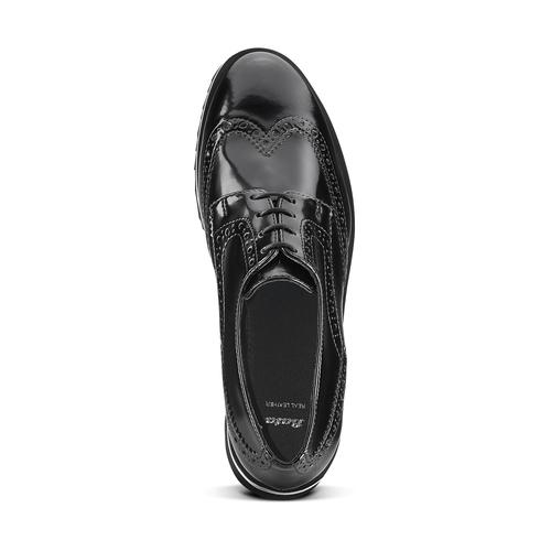 Scarpe platform stringate bata, nero, 521-6656 - 15